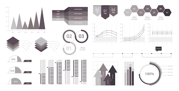 Business graph infographic Free Vector