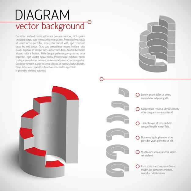 Шаблон бизнес-серой диаграммы с текстовыми полями и описанием каждого выбранного фрагмента Бесплатные векторы