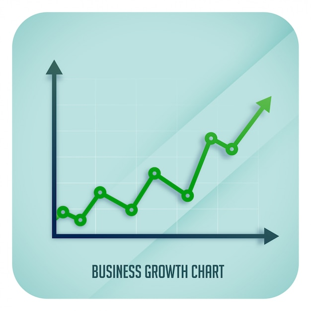 Free Vector | Business growth arrow chart showing upward trend