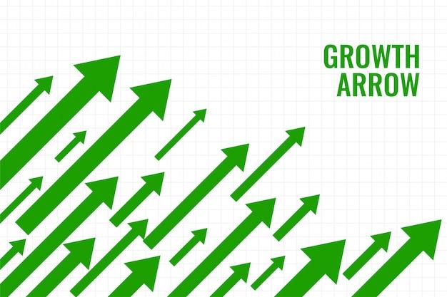 Business growth arrow showing upward trend Free Vector