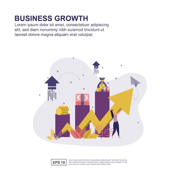 Business growth concept Premium Vector