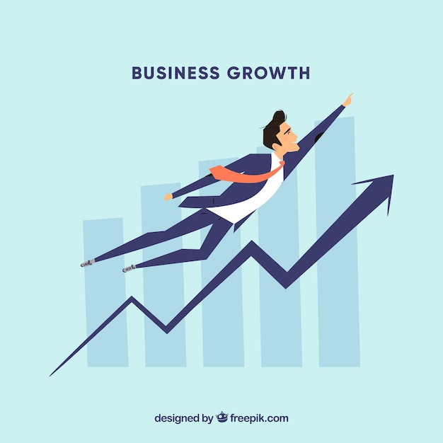 Business growth concept Free Vector