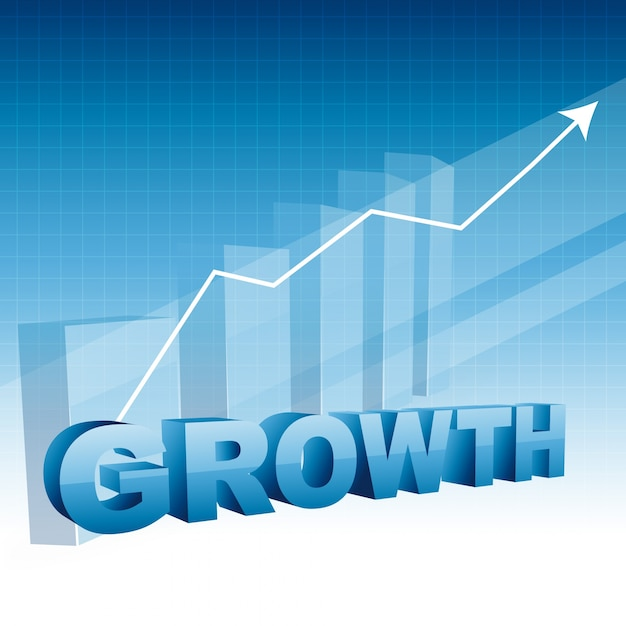 Business growth design with arrow moving upward Vector ...