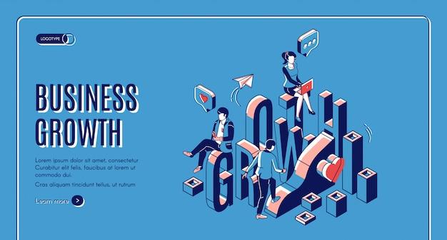 ビジネス成長スタートアップが等尺性着陸を後押し 無料ベクター