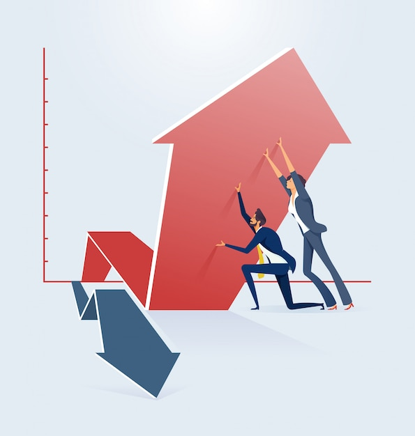 Business growth and success concept Premium Vector