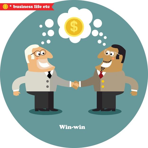Business handshake big deal
