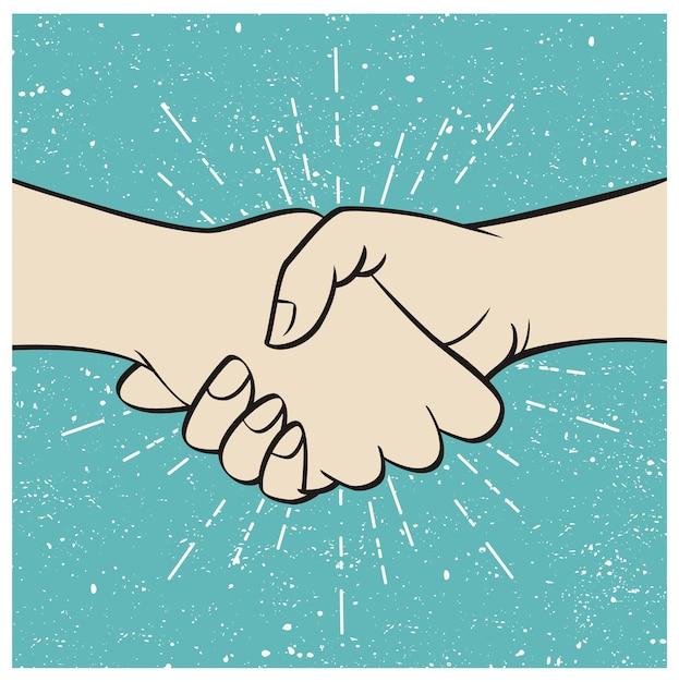 Business handshake Premium Vector