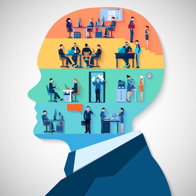Business head design concept Free Vector