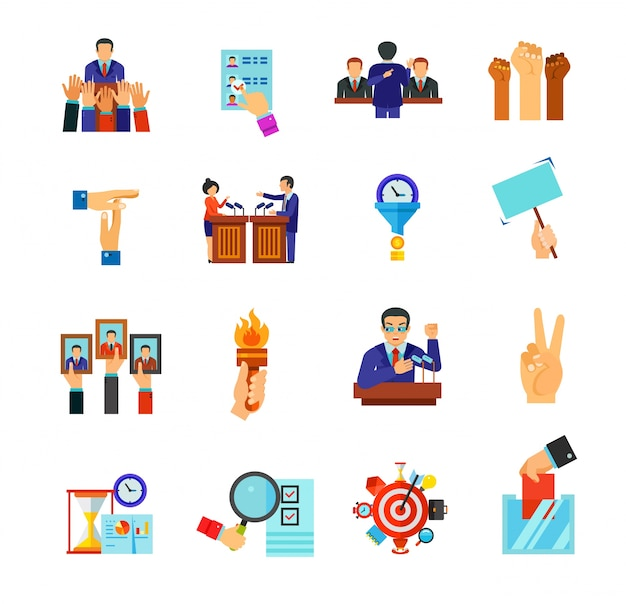 Business icon collection Free Vector