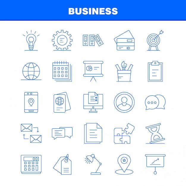 Business icon set Premium Vector