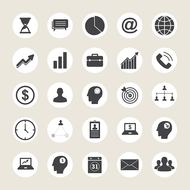 Business icons collection Premium Vector