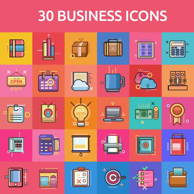 Business icons collectionb Free Vector