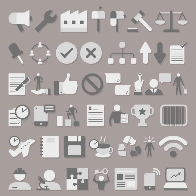 Business icons set Premium Vector