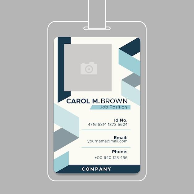 ビジネスidカードのコンセプト 無料ベクター