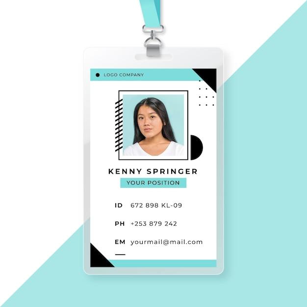 Шаблон визитной карточки с аватаркой Бесплатные векторы
