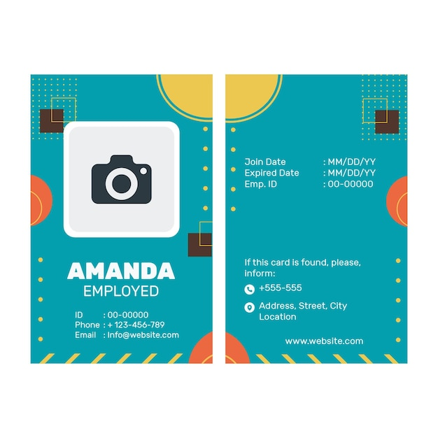 Business id card template Free Vector