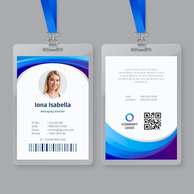 Business id card template Premium Vector