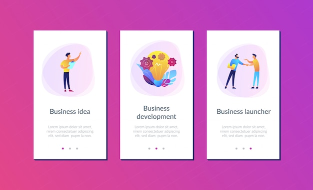Business idea app interface template Premium Vector