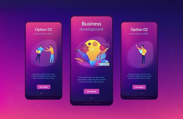 Business idea app interface template Premium Vector