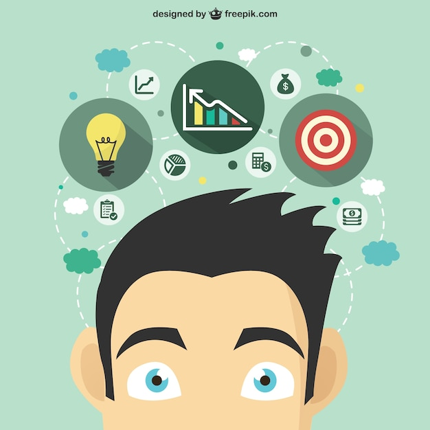 Business idea concept Premium Vector. Business idea concept Vector   Premium Download