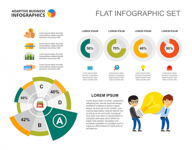 Business idea pie and doughnut charts template vector free download business idea pie and doughnut charts template free vector wajeb Gallery