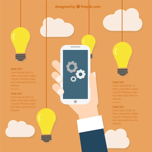 Business ideas for mobile applications Free Vector