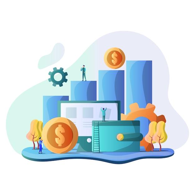 Business illustration Premium Vector