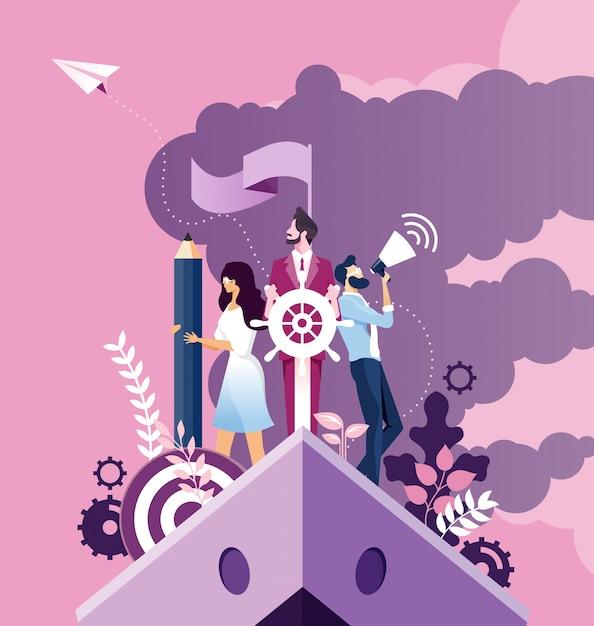 Business improvement and development concept Premium Vector