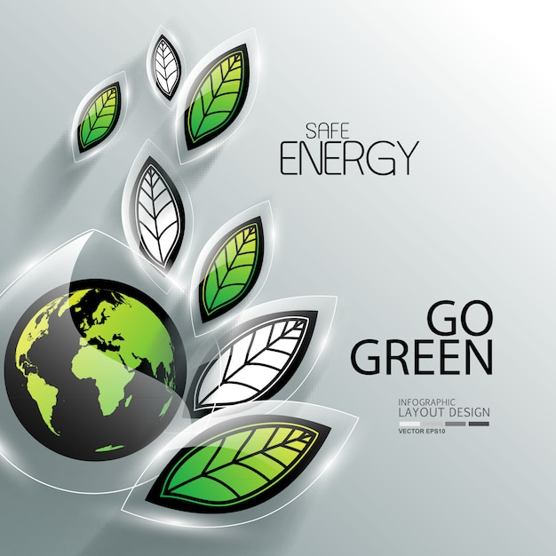 Business info graphic for environment Premium Vector