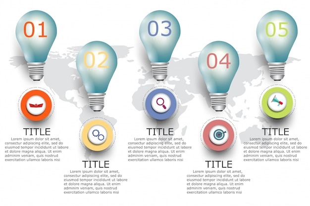 Business info graphic Premium Vector
