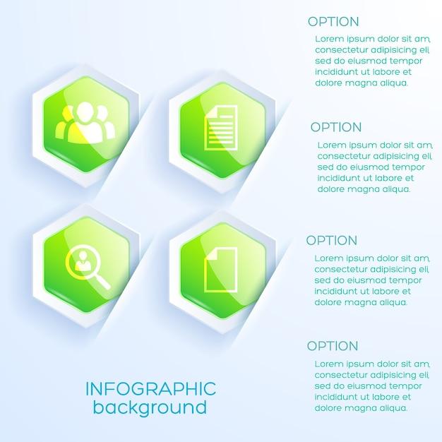 Бизнес-концепция инфографики Бесплатные векторы