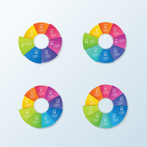 Business infographic and data visualization Premium Vector