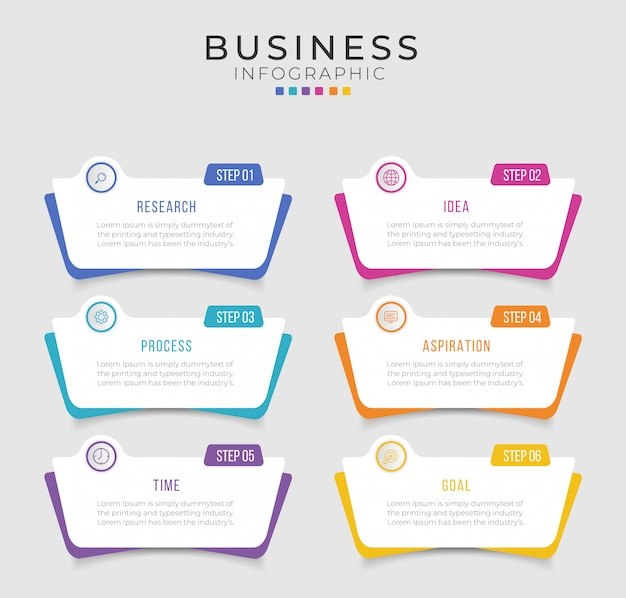 Business infographic design  can be used for workflow layout, diagram, annual report. Premium Vector