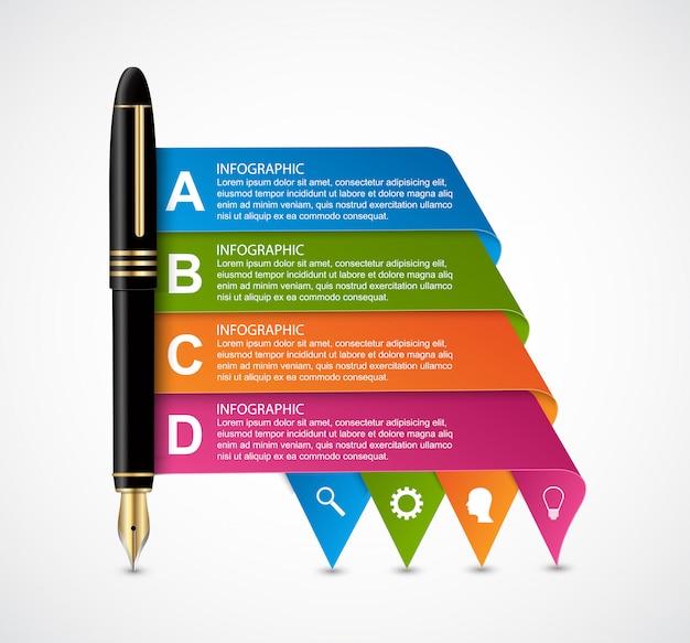 Business infographic design template. Premium Vector