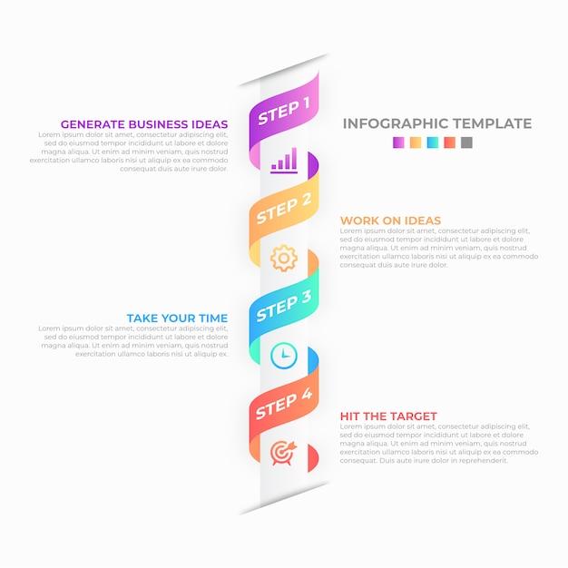 Business infographic design template Premium Vector