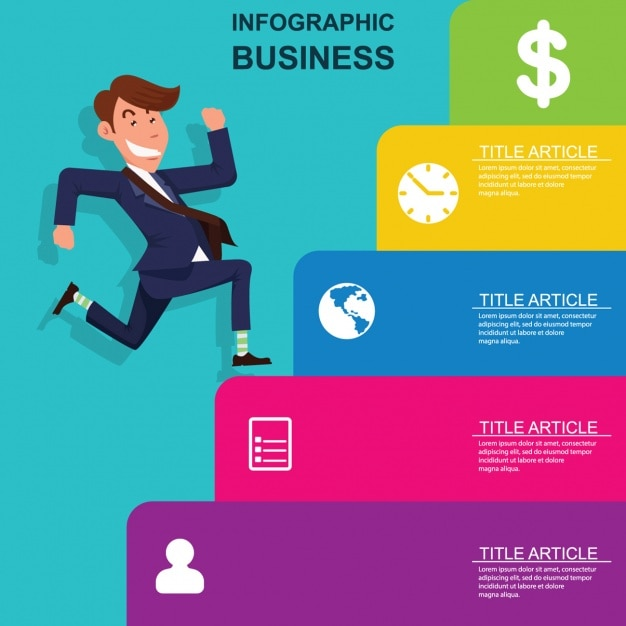 Business Infographic Design Vector Free Download