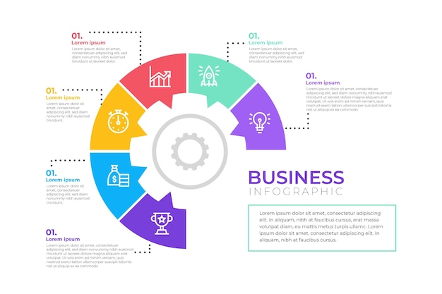 Business infographic design Free Vector