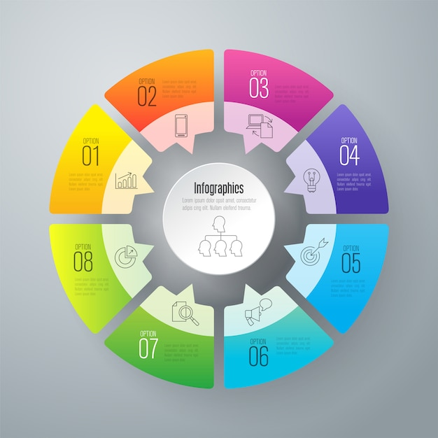 Business infographic elements Premium Vector