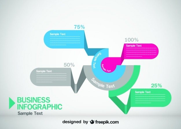 Business Infographic Origami Style Design Free Vector. Business Infographic Origami Style Design Vector   Free Download