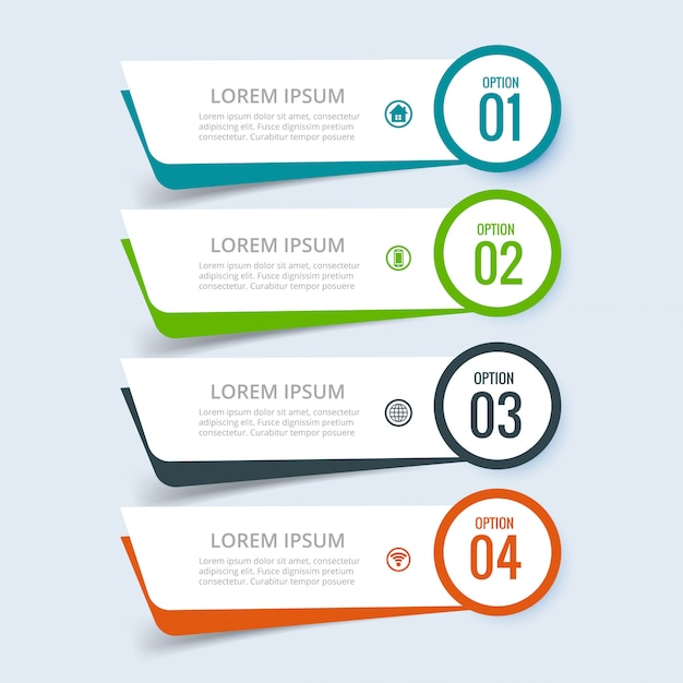 Business infographic set of steps design Free Vector