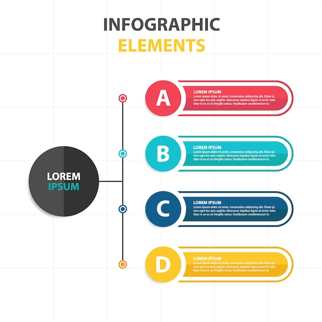 Business infographic template in banner style Free Vector