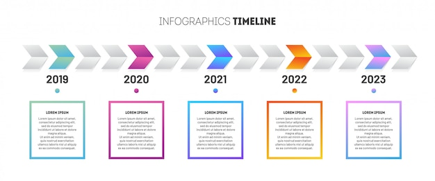 Business infographic template.  design with timeline Premium Vector