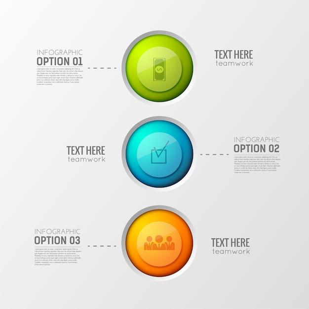4つのステップを持つビジネスインフォグラフィックテンプレート 無料ベクター