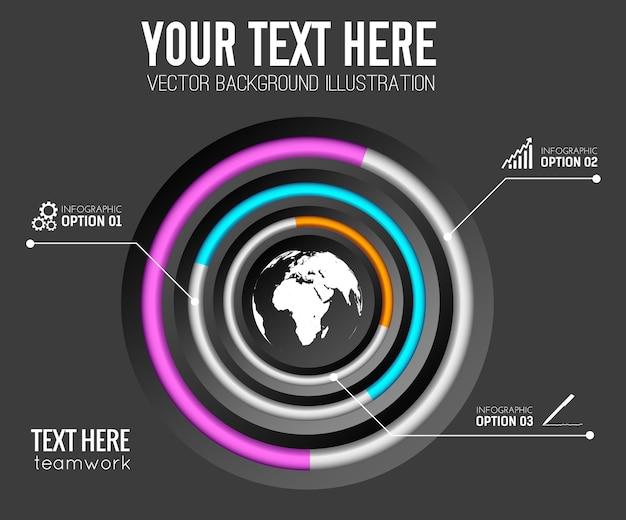 3 단계 비즈니스 인포 그래픽 템플릿 무료 벡터