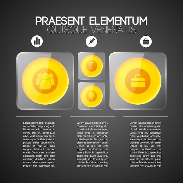 3 단계 비즈니스 인포 그래픽 템플릿 프리미엄 벡터
