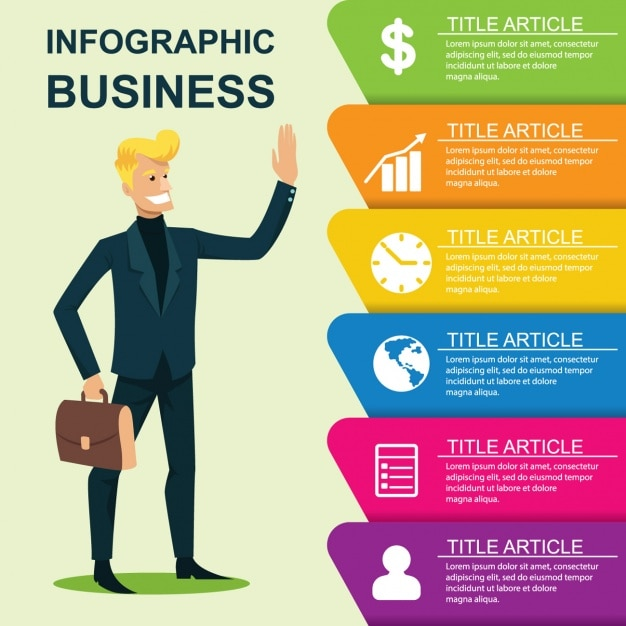 Business infographic template vector free download business infographic template free vector cheaphphosting Images