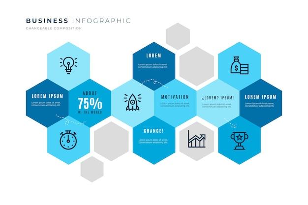 Шаблон бизнес-инфографики Бесплатные векторы