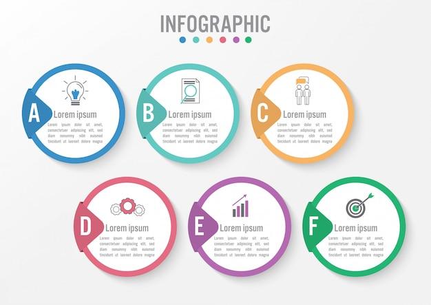 Business infographic template Premium Vector