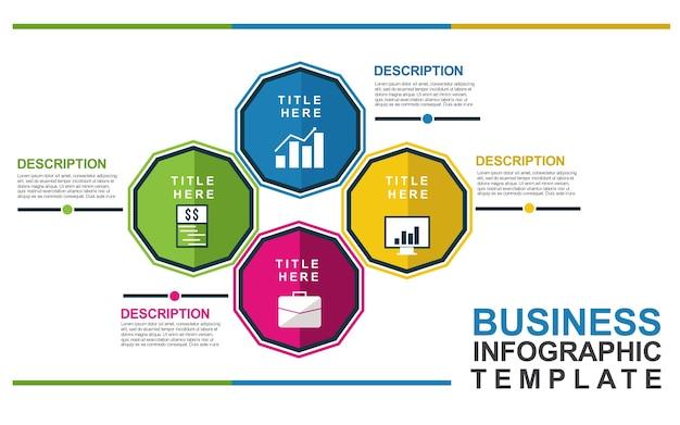 Бизнес-инфографический шаблон Premium векторы