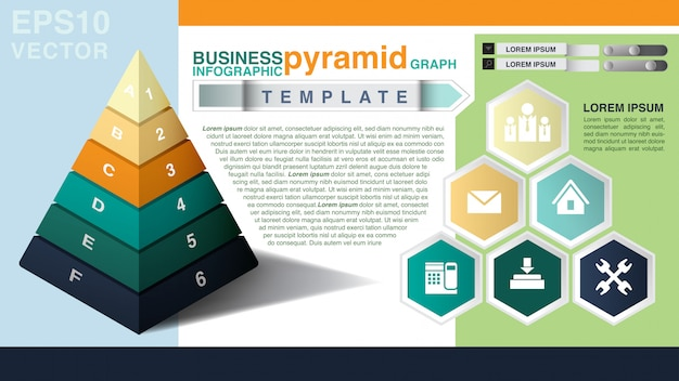 Business infographic template Premium Vector